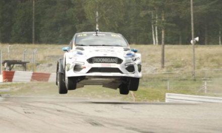 Ken Blocks Drifts the World's First All-Electric Rally Cross Car