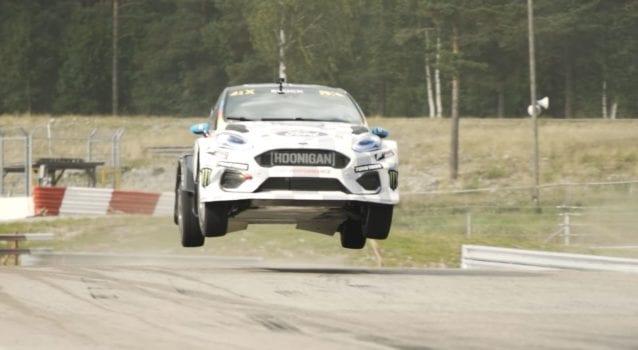 Ken Blocks Drifts the World's First All-Electric Rally Cross Car
