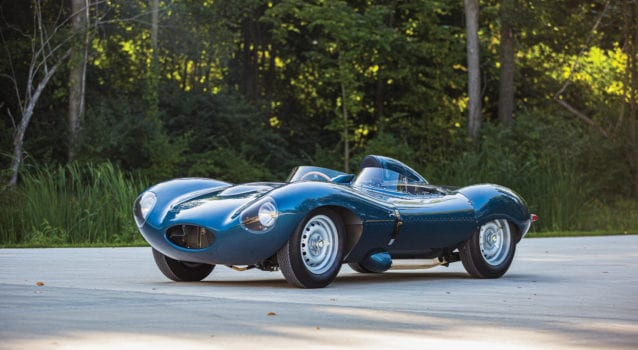 RM Sotheby's Is Auctioning Off the Incredible Scottish Racing Blue 1955 Jaguar D-Type Continuation