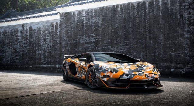 One-of-One Camoflauge Lamborghini Aventador SVJ 63 Lands in Hong Kong