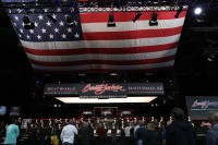 OH SAY CAN YOU SEE: The singing of the National Anthem is an important tradition at Barrett-Jackson